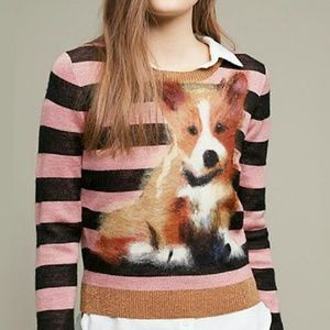 Anthropologie Sweaters - Rare! Anthropologie Dog Sweater Pup Puppy Pupped